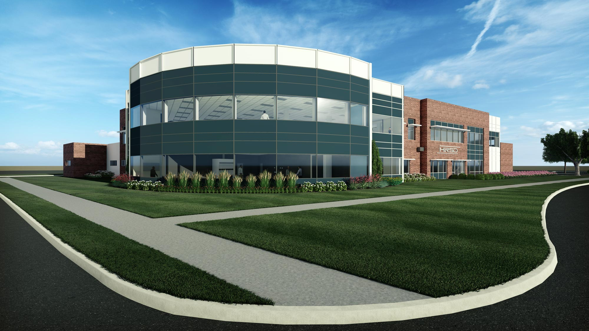 Rendering of HRSD Water Quality Services Building